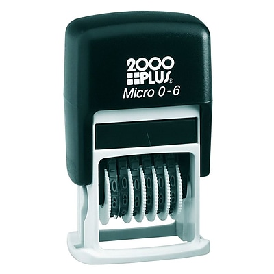 Cosco® 2000 Plus Self-Inking Number Stamp, Black (010132)