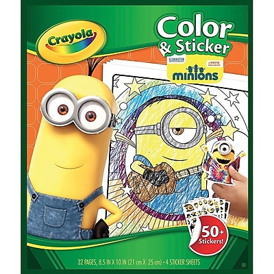 Crayola® Minions Color and Sticker Book, Multicolor, 8 1/2