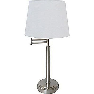 Adesso® Swing-Arm Table Lamp, Brushed Steel (AF39067)