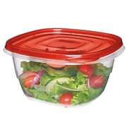 Rubbermaid® TakeAlongs® 5.2 Cups Clear/Red Plastic Square Bowl, 4/Pack (FG7F54RETCHIL)