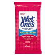 "Wet Ones® Antibacterial Moist Towelette, 5"" x 7"", 15/Pack (PLA 4702)"