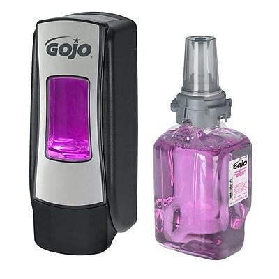 GOJO® Antibacterial Foam Handwash Starter Kit, Plum Scent, 23.67 oz. (8712-D1)