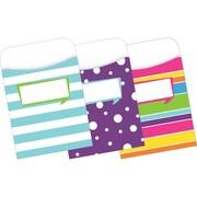 "Barker Creek® 3 1/2"" x 5 1/8"" Peel & Stick Happy Library Pocket (LL-1234)"