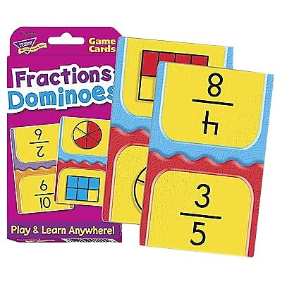 Trend® Fractions Dominoes Challenge Card, Multicolor (T-24009)