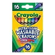 Crayola Washable Crayons, 16 / Box