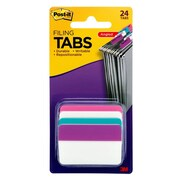 "Post-it® 2"" Hanging File Folder Tab, Assorted, 24/Pack (686A-PWAV)"