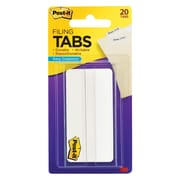 """Post-it® 3"""" x 1 1/2"""" Tab, White, 20/Pack (686-20W3IN)"""