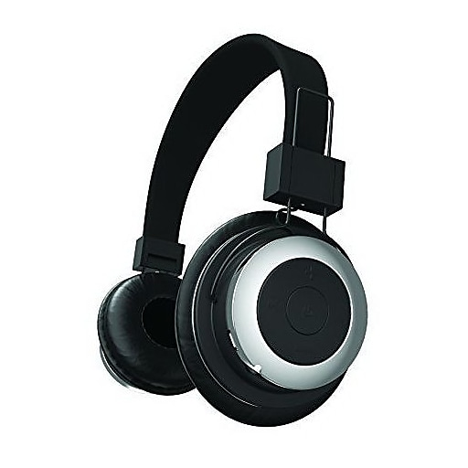 Tzumi 2688ST Bluetooth Stereo Over-the-Ear Headphone, Black/Silver
