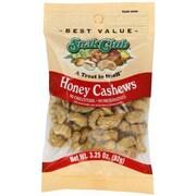 Snak Club® Roasted Honey Cashews, 3.25 oz. (HON CASHEW)