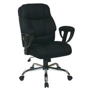 "Office Star™ Work Smart™ 28 3/4"" Executive Big Man's Chair with Adjustable Arms, Black (EX1098-3M)"