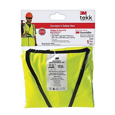 3M™ TEKK Surveyor's Safety Vest, Fluorescent Yellow (94618-80030T)