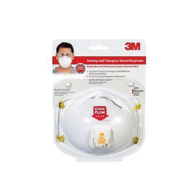 3M Sanding and Fiberglass Valved Respirator, White (8511HA1-C) 990502