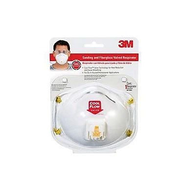 3M™ Sanding and Fiberglass Valved Respirator, White (8511HA1-C)