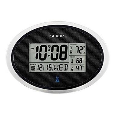 Ashton Sutton Sharp Atomic Oval Wall Clock, 11.8