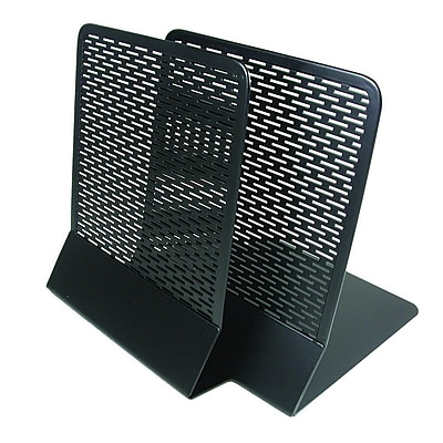 Artistic Urban Collection Punched Metal Bookends, Black (Pair) (ART20008)