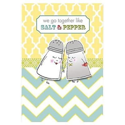Hallmark Anniversary Greeting Card, We go Together Like Salt & Pepper (0395QUA2167)