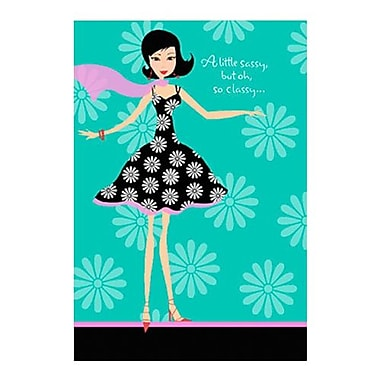 Hallmark Birthday Greeting Card, a Little Sassy, but oh, So Classy (0250QUF3005)