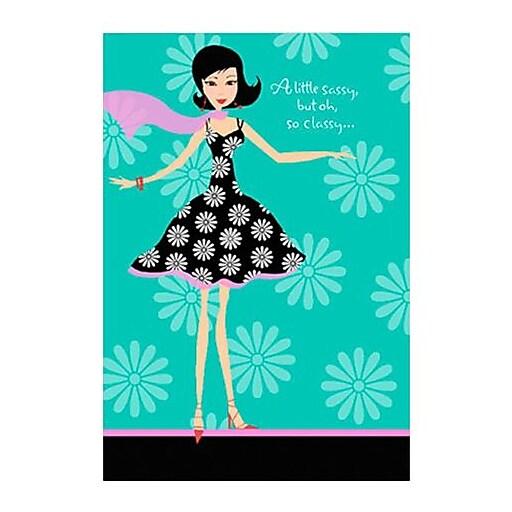 Hallmark Birthday Greeting Card, a Little Sassy, but oh, So Classy  (0250QUF3005)