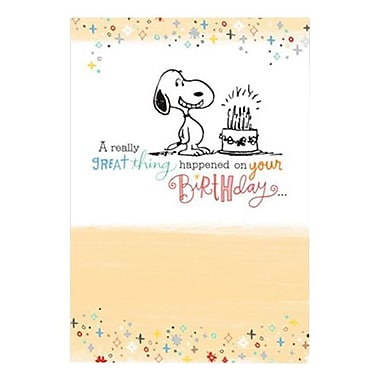 Hallmark Birthday Greeting Card, a Really Great Thing Happened on Your Birthday (0375QUB2299)