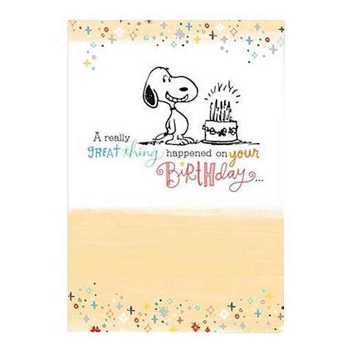 Hallmark Birthday Greeting Card A Really Great Thing Happened On Your 0375QUB2299