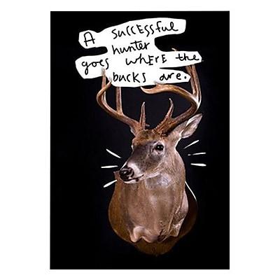 Hallmark Birthday Greeting Card, a successful hunter goes where the bucks are (0349ZZB6713)