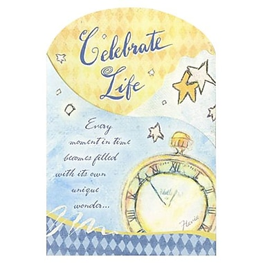 Hallmark Birthday Greeting Card, Every Moment in Time Becomes Filled with its Own Unique Wonder (0395QUB2312)