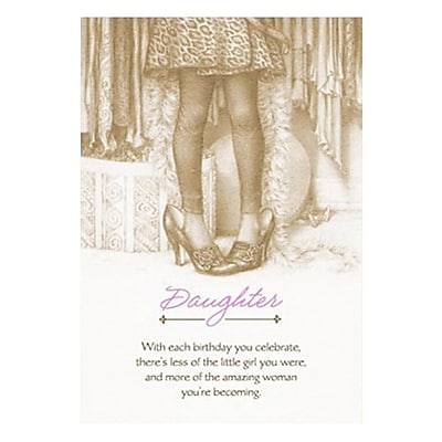 Hallmark Birthday Greeting Card, Foil, Bronze, Tipped insert (0375QUF3116)