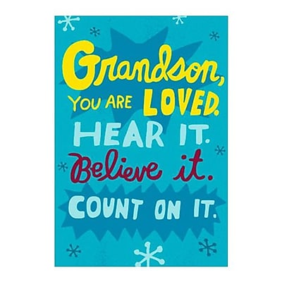 Hallmark Birthday Greeting Card, Grandson, You are Loved. Hear it. Believe it. Count on it (0250QUM4161)