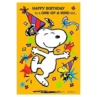 Hallmark Birthday Greeting Card, Happy Birthday to a One-of-a-Kind Kid (0295QUJ3622)