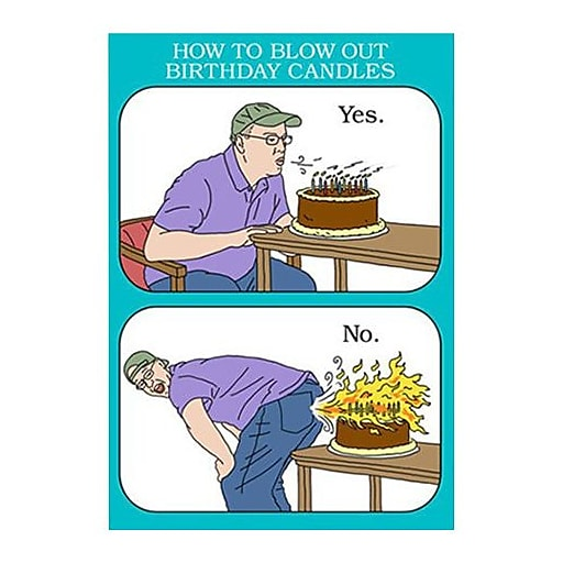 Hallmark Birthday Greeting Card How To Blow Out Candles Yes No 0349ZZB1449