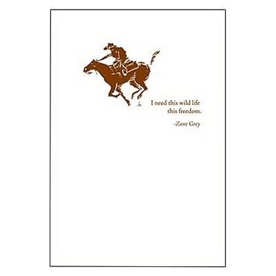 Hallmark Birthday Greeting Card, I Need This Wild Life, This Freedom. -Zane Grey (0495QUM4133)