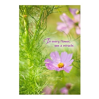 Hallmark Birthday Greeting Card, in Every Flower, See a Miracle (0250QUB2405)