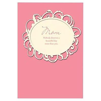 Hallmark Birthday Greeting Card, Mom Nobody Deserves a Beautiful Day More Than You (0595QUF3150)