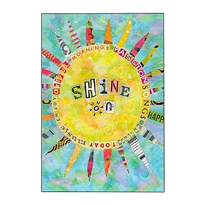 Hallmark Birthday Greeting Card, Mornings Passion Songs Explore Today Music Enjoy Artful Shine on (0295QUB2547)