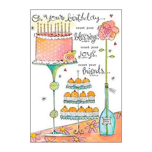 Hallmark Birthday Greeting Card On Your Count Blessings Joys You Friends0250QUF3069
