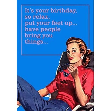 Hallmark Birthday Greeting Card, Pretend You're a Man (0349ZZB6533)