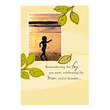 Hallmark Birthday Greeting Card, Remembering the Boy You Were, Celebrating the Man You?ve Become (0295QUM4147)