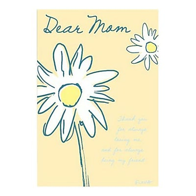 Hallmark Birthday Greeting Card, Thank You for Always Loving Me, and for Always Being My Friend. Dear Mom (0375QUF3140)