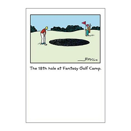Hallmark Birthday Greeting Card, the 18th Hole at Fantasy Golf Camp (0250QUH3352)