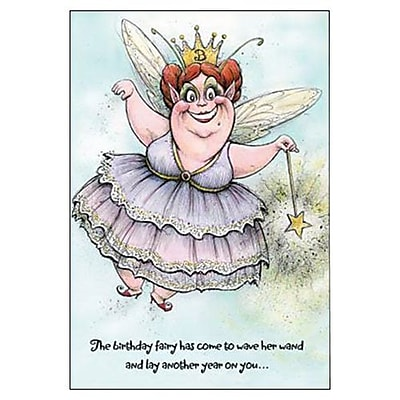 Hallmark Birthday Greeting Card, the Birthday Fairy Has Come to Wave Her Wand and Lay Another Year on You?(0295QUH3396)