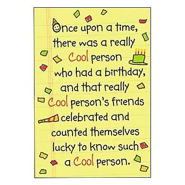 Hallmark Birthday Greeting Card, the End. Happy Birthday, O Cool One! (0295QUH3394)