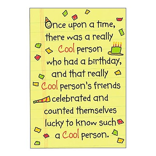 Hallmark Birthday Greeting Card The End Happy O Cool One 0295QUH3394