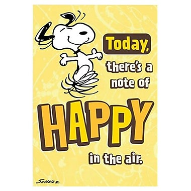 Hallmark Birthday Greeting Card, Today, There's a Note of Happy in the Air... Schulz (0595QBX1504)