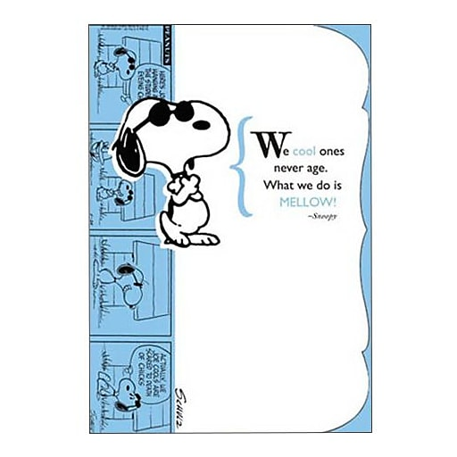 Hallmark Birthday Greeting Card We Cool Ones Never Age What Do Is Mellow Snoopy 0250QUB2231