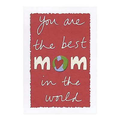 Hallmark Birthday Greeting Card, You are the Best Mom in the World (0375QUF3141)