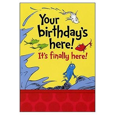 Hallmark Birthday Greeting Card, Your Birthday's Here! It's Finally Here! (0295QUJ3618)