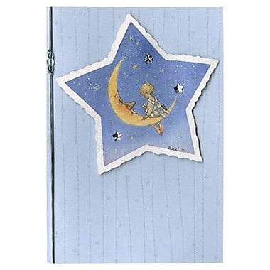 Hallmark Blank Greeting Card, Glitter, Tipped Cord with Beading, Tipped Outsert with Gemstones and Glitter (0695QBK1262)