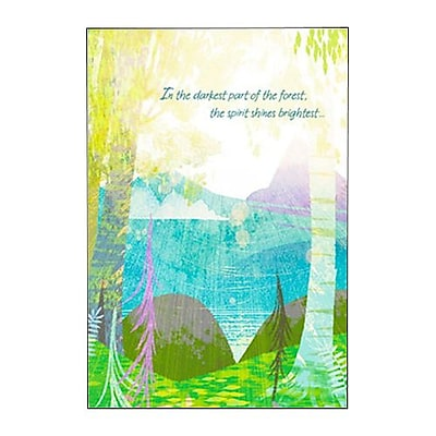 Hallmark Cope Greeting Card, In the Darkest Part of the Forest, the Spirit Shines Brightest (0250QFR1655)