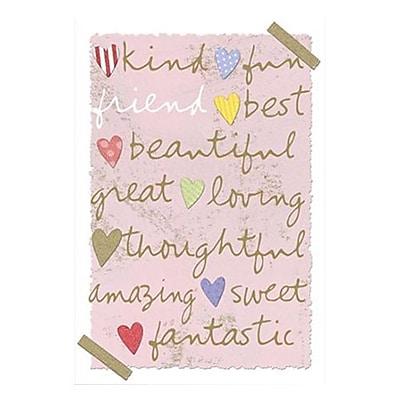 Hallmark Friendship Greeting Card, Embossed, Glitter, Page Insert (0395QFR1731)