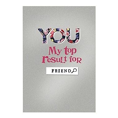 Hallmark Friendship Greeting Card, You My Top Result for Friend (0295QFR1728)